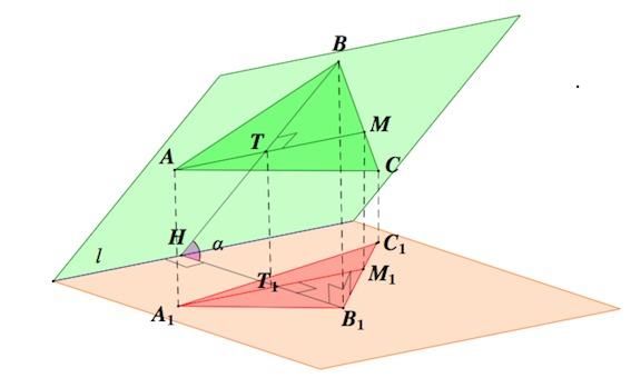 Площадь ортогональной проекции многоугольника решение задач задачи с решением с3 по математике егэ